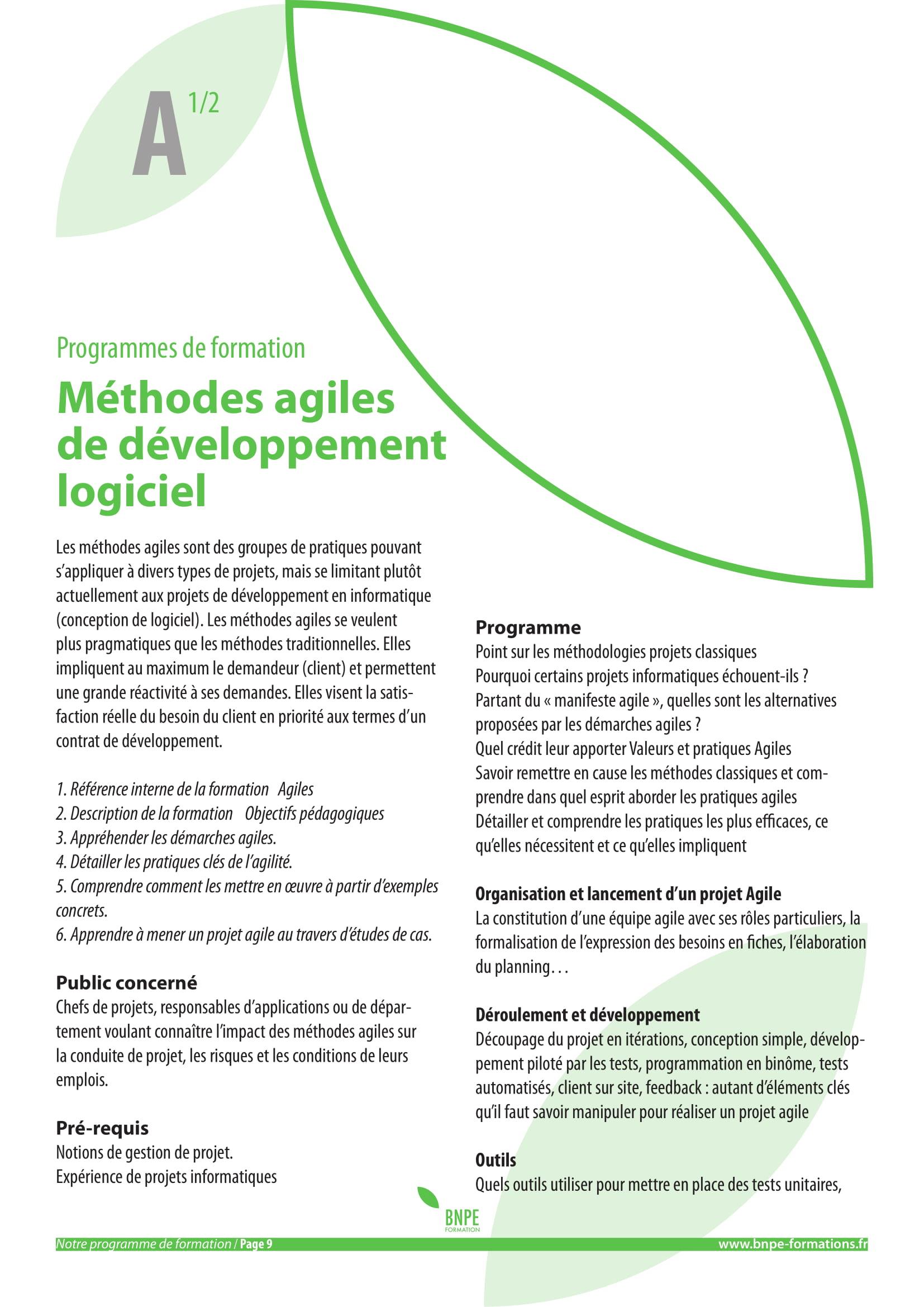 Méthodes Agiles De Développement Logiciel Bureau National Pour L